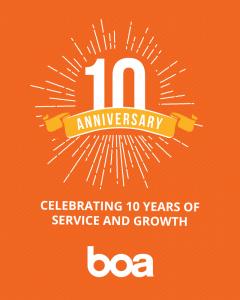 BOA Logistics 10 Year Anniversary
